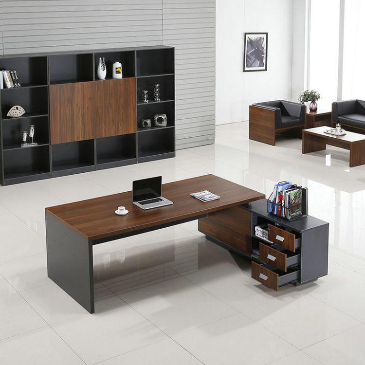 厂家批发油漆大班桌 钢架定制大班桌价格 欢迎订购 博蓝