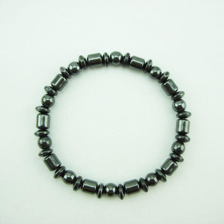 磁性黑胆磁石手链 古珠夹圆夹扁磁疗保健手链 精美饰品会销礼品