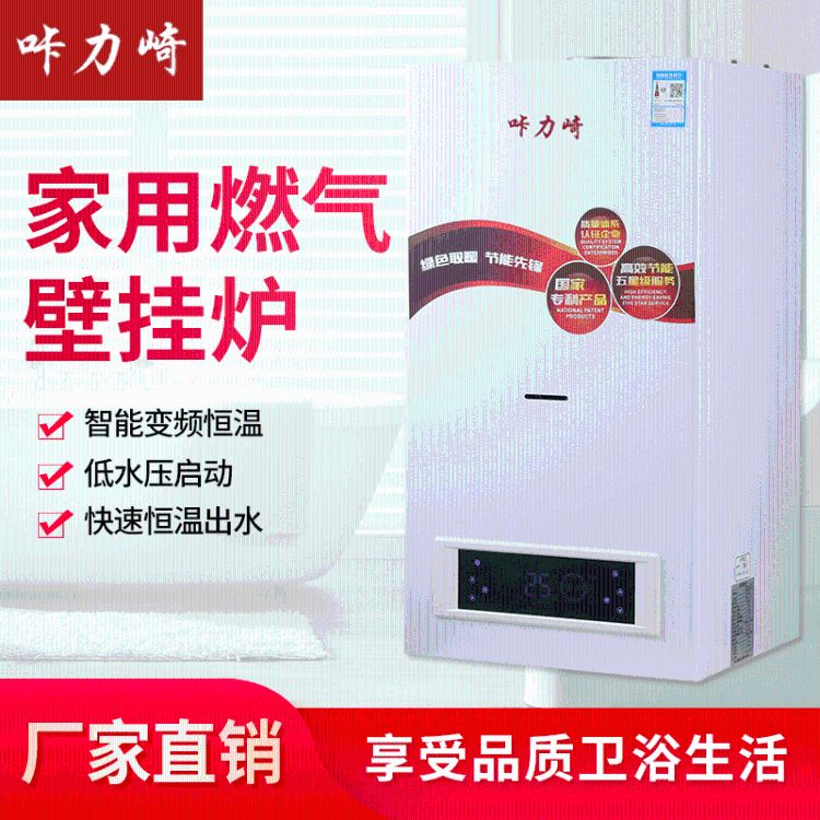 厂家直销 热水采暖炉供暖取暖锅家用电壁挂炉咔力崎 W20款燃气壁挂炉