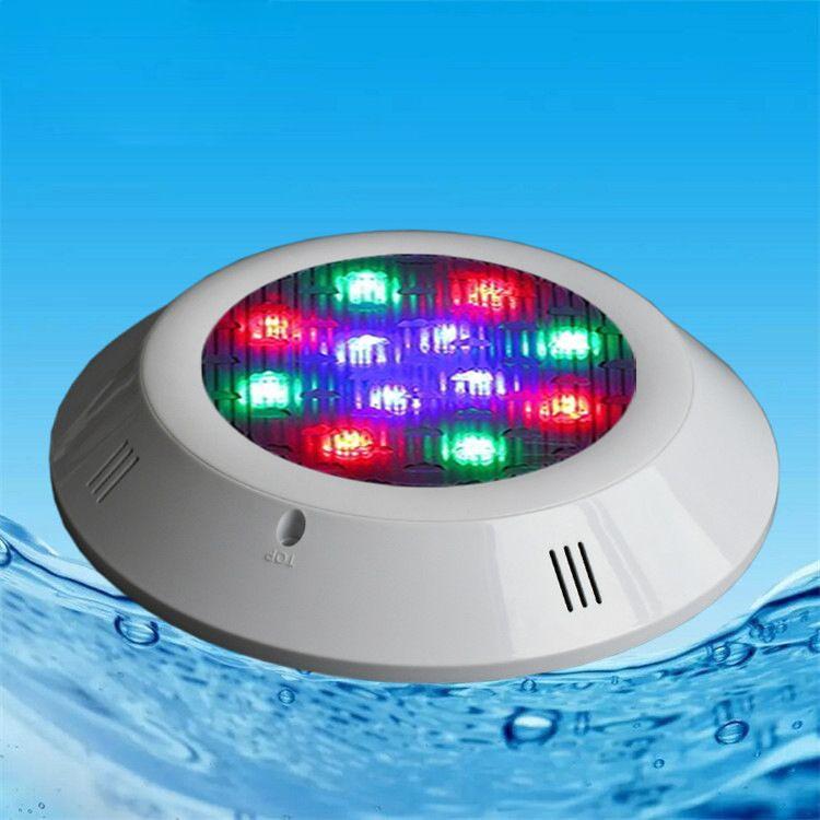 LED泳池挂壁灯rgb七彩遥控嵌入式水底灯 低压防水泳池灯 工厂直销