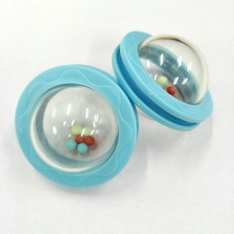 圣恩 转动摇铃婴儿玩具 波仔球塑料玩具