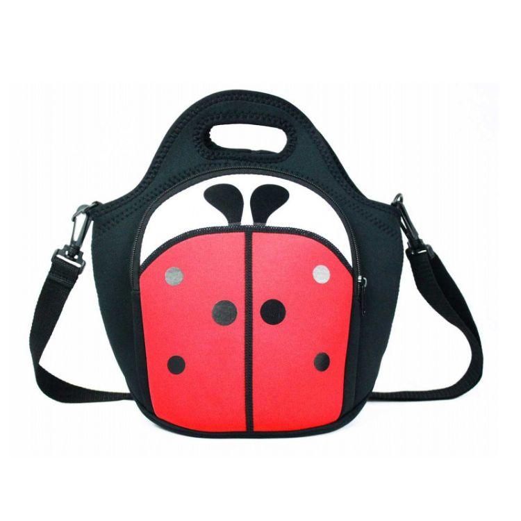 厂家定制欧美便当包学生包上班手提包防水防震潜水料双肩背包