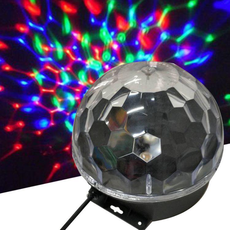 水晶魔球灯 舞台灯LED彩灯 迷你水晶魔球 舞台KTV酒吧七彩灯