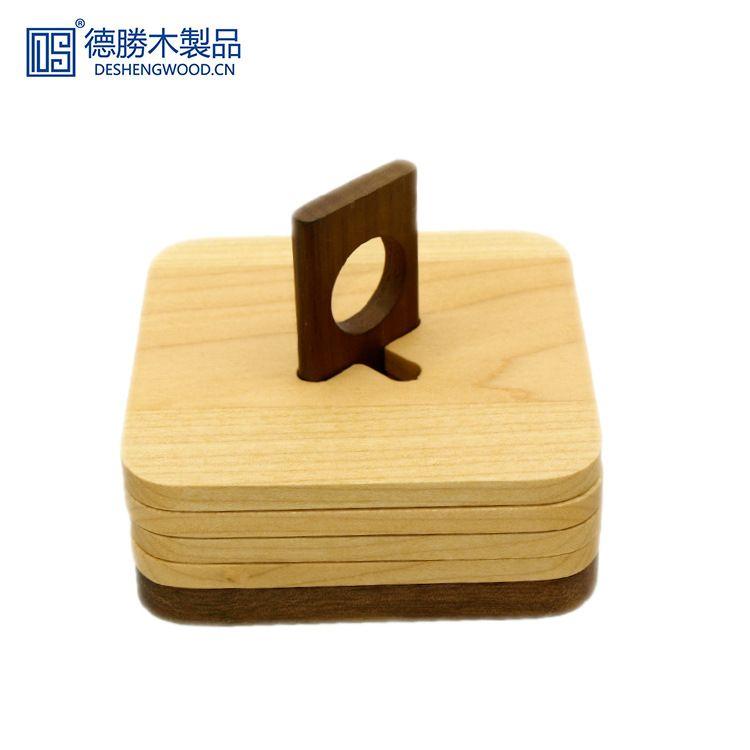 源头厂家枫木方形隔热垫日式茶杯垫实木防滑垫原木碗垫来图定制
