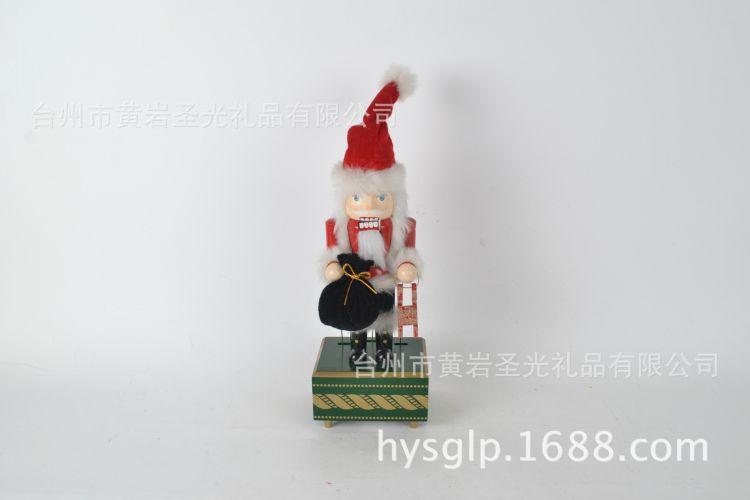供应定制木制胡桃将军 胡桃夹子 圣诞木偶 木偶 八方音乐盒