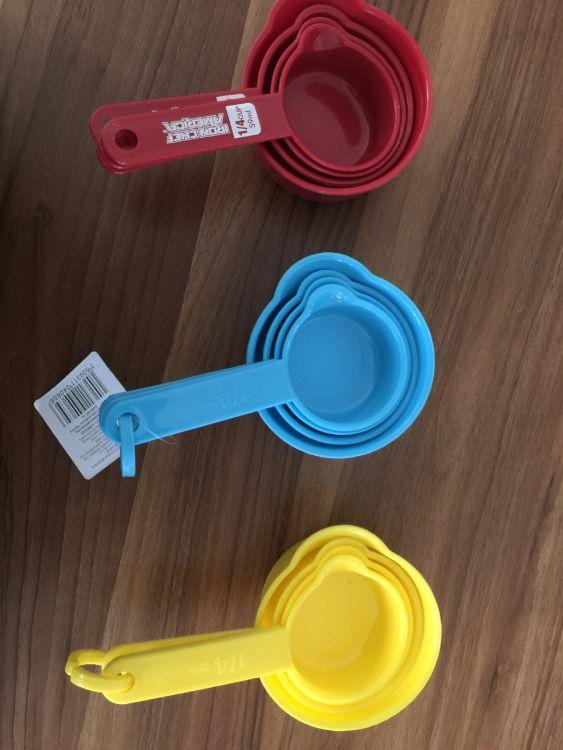 塑料量勺4件套多彩咖啡奶粉量勺创意厨房小工具外贸原单厂家批发