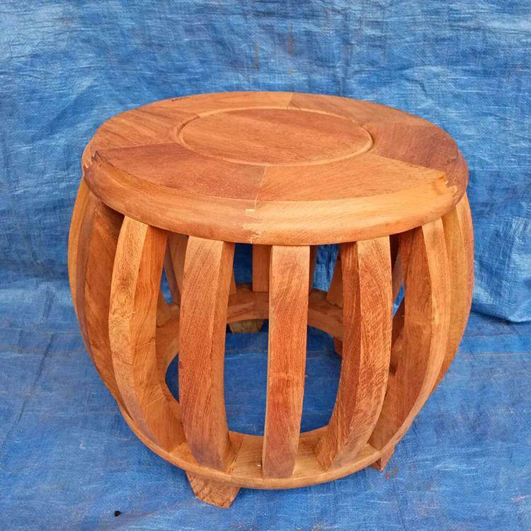 红木小家具鼓凳越南红木鼓凳大果紫檀缅甸花梨木实木凳绣敦