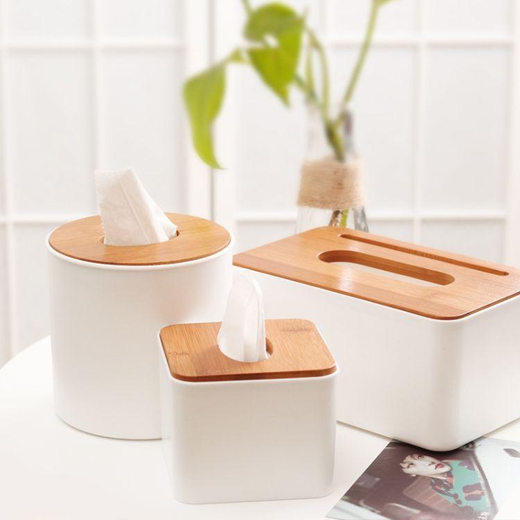 多功能欧式木盖纸巾盒木质家用客厅抽纸盒卷纸筒茶几收纳盒纸巾盒