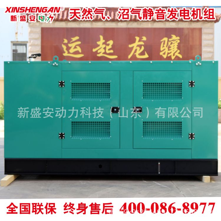 100kW 静音发电机组 燃气发电机 天然气 沼气 潍坊 潍柴 新盛安