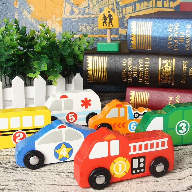 出口好品质小汽车儿童玩具 道路交通标识标志套装14pc路标路障模