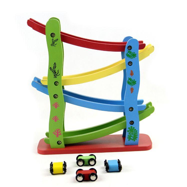 急速滑翔车下滑车轨道飙车飞车儿童木制玩具礼物礼品3-6岁宝宝