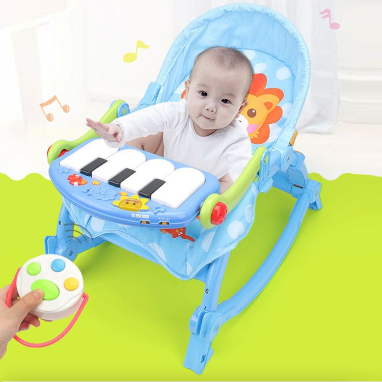 yayaya厂家直销哄娃神器母婴幼儿宝宝脚踏琴安抚摇椅早教益智玩具