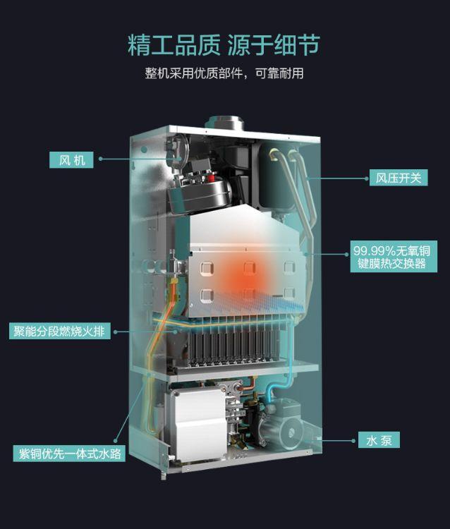 壁挂炉  阿诗丹顿(USATON)天然气地暖锅炉壁挂炉L系高效冷凝型26KW