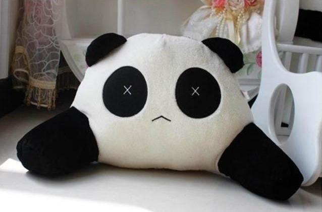 熊猫腰枕 汽车腰枕 毛绒腰枕 玩偶