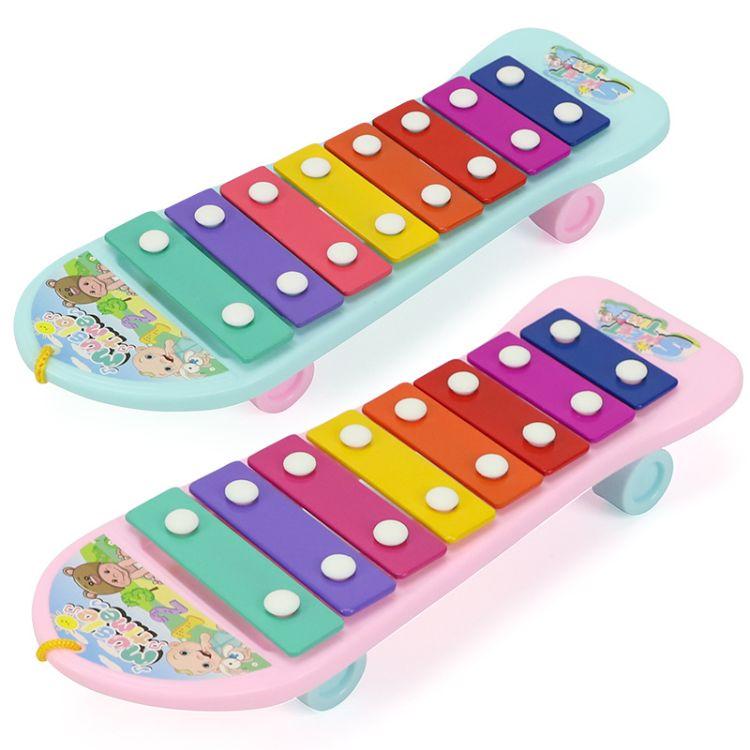 【包邮】儿童八音阶音乐铝金琴面手敲琴益智早教音乐琴女孩玩具
