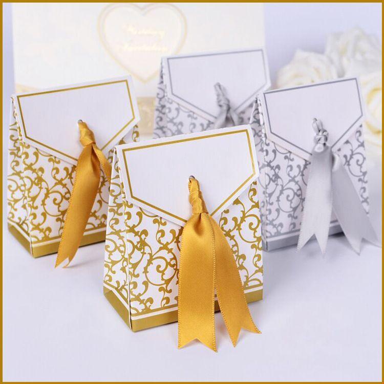 婚庆婚礼用品批发喜糖盒结婚糖果盒子欧式创意喜宴糖袋定制LOGO