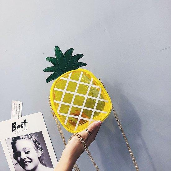厂家直销韩版2018夏季新款单肩果冻包可爱菠萝斜挎配饰包儿童包