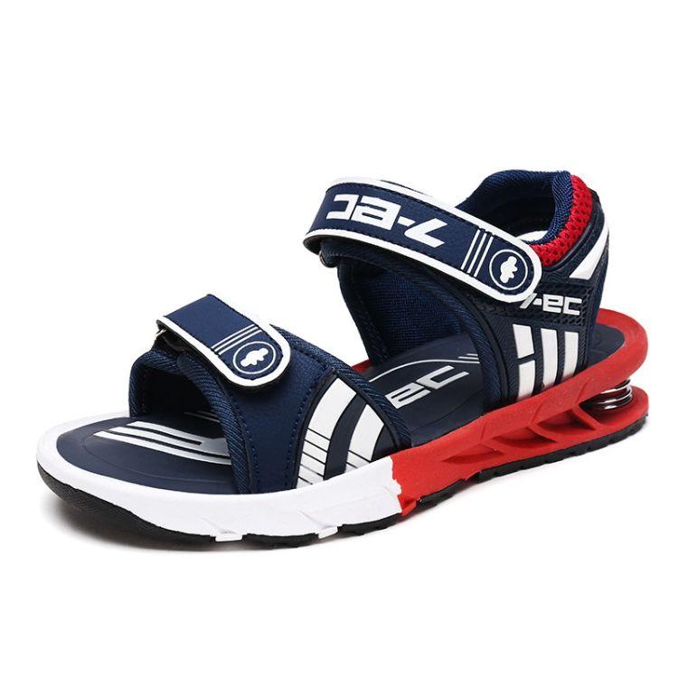 2018夏季新款儿童鞋男童凉鞋防滑儿童弹簧鞋百搭露趾沙滩鞋凉鞋