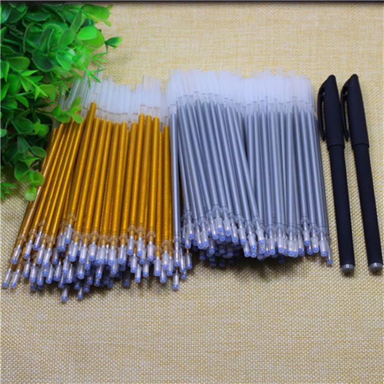 厂家直销批发深金色 闪光笔芯 抄经书替芯 皮革笔芯 银色中性笔芯