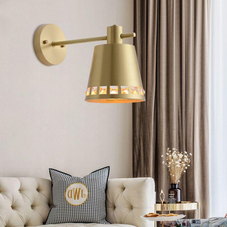 北欧现代全铜壁灯黄铜单头丹麦简约卧室床头走廊过道灯镜前灯批发