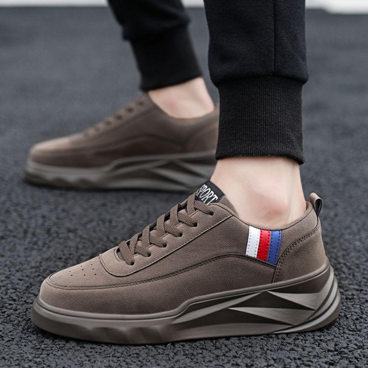 ins超火的男鞋秋季韩版休闲鞋潮流个性百搭板鞋休闲运动增高单鞋