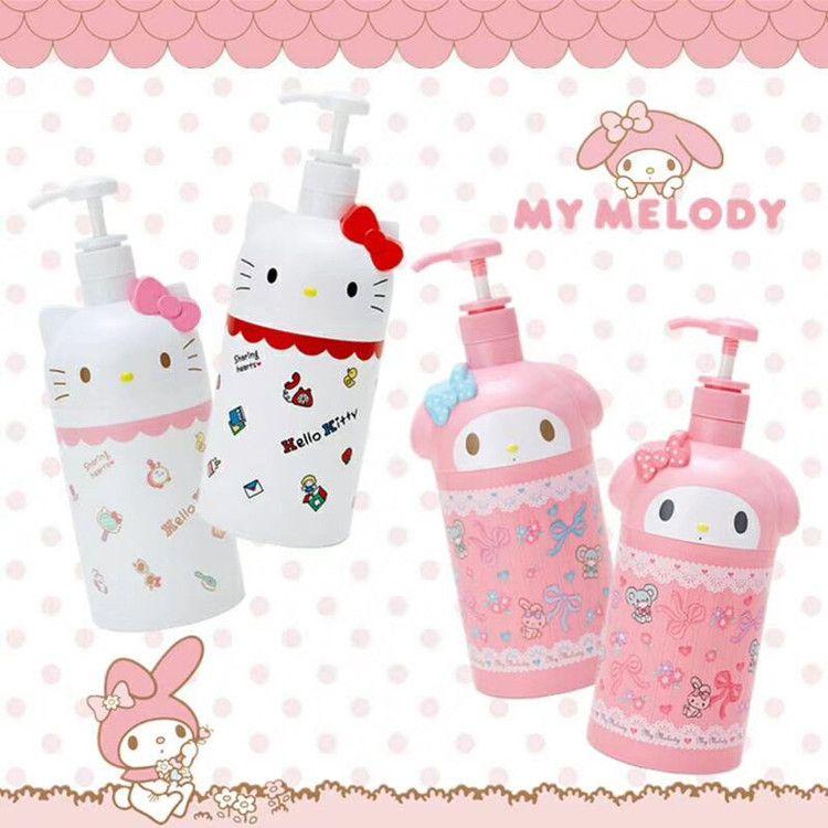 可爱美乐蒂Kitty猫大容量沐浴瓶按压式分瓶装沐浴露洗发水乳液瓶