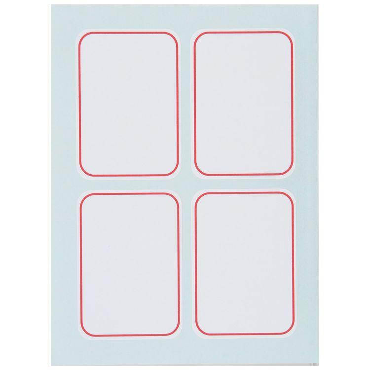 得力6417标签贴 自粘性标签纸 (35x50mm)可书写价格标贴小价格