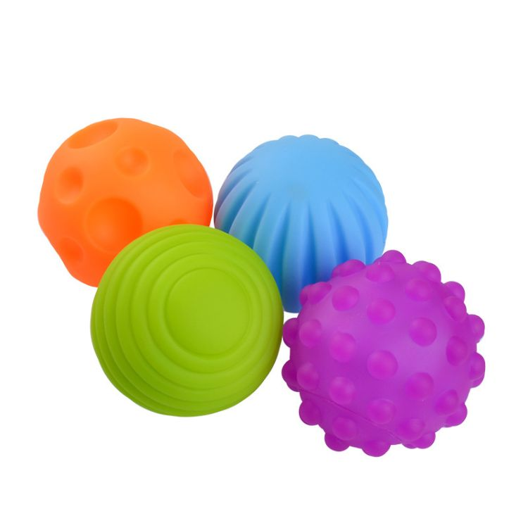 婴儿玩具触觉手抓球训练球宝宝按摩感知软球波波球早教益智BB器