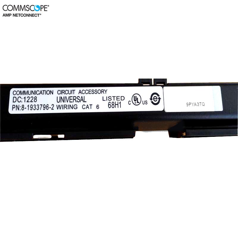 康普六类非屏蔽24口配线架 AMP配线架 安普配线架 8-1933796-2