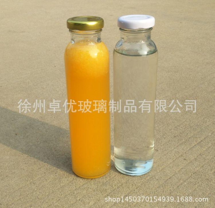 310ml玻璃冷泡茶瓶 铁盖丝口泡茶瓶饮料瓶果汁瓶果醋瓶子含盖批发