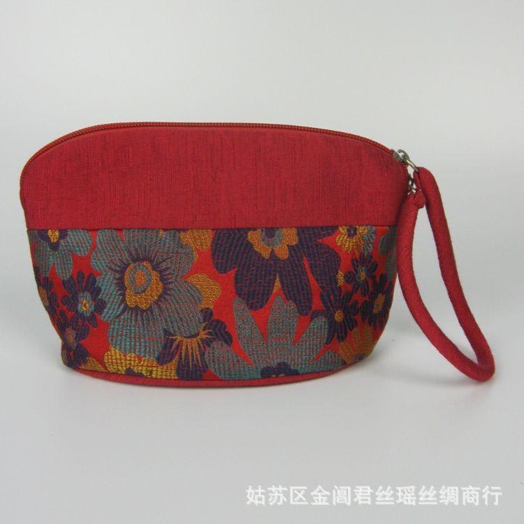 丝绸手拎包出国送老外送朋友时尚礼品袋旅游手腕包化妆包