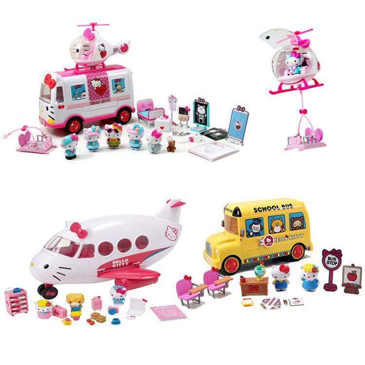 凯蒂猫hello kitty救援飞机+救护车儿童女孩过家家玩具圣诞礼物
