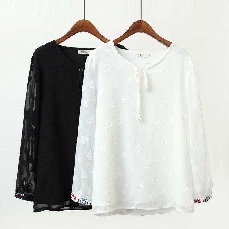 大码女装胖MM新款2018夏季显瘦雪纺衫洋气微胖妹妹200斤上衣