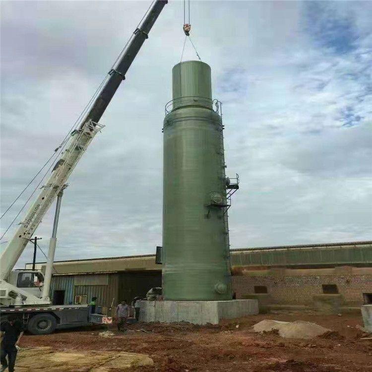 鹏龙厂家定制玻璃钢酸雾净化塔 烟气除硝脱硫塔 工业废气洗涤喷淋塔