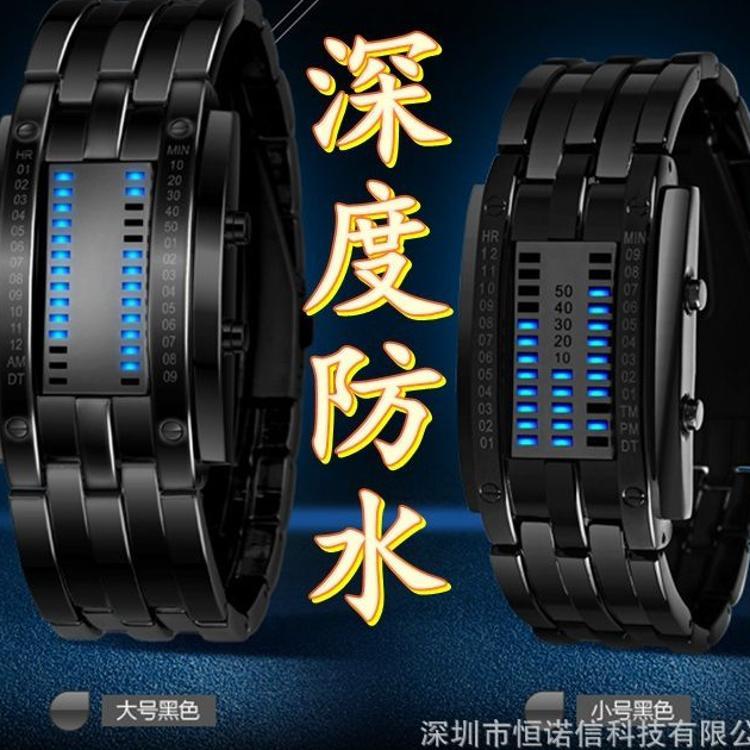厂家现货批发直销时尚个性创意熔岩表LED电子表热卖款