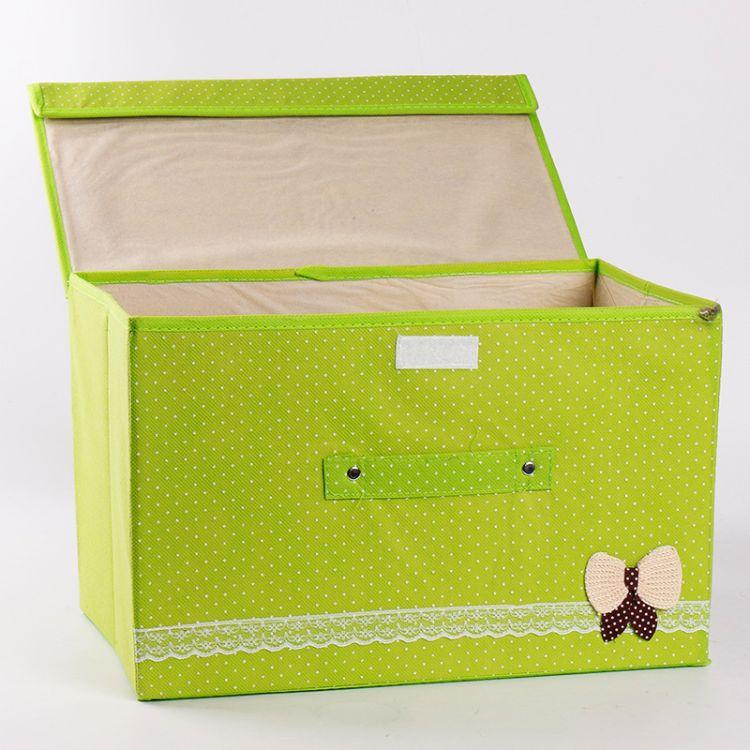 大号无纺布收纳箱 折叠整理箱 加厚布艺衣物储物箱现货 批发超值特价