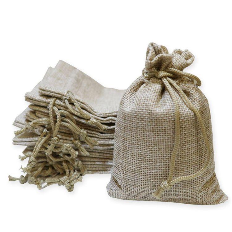 厂家定制麻布束口袋精美棉麻抽绳束口袋礼品棉布袋麻布袋定做