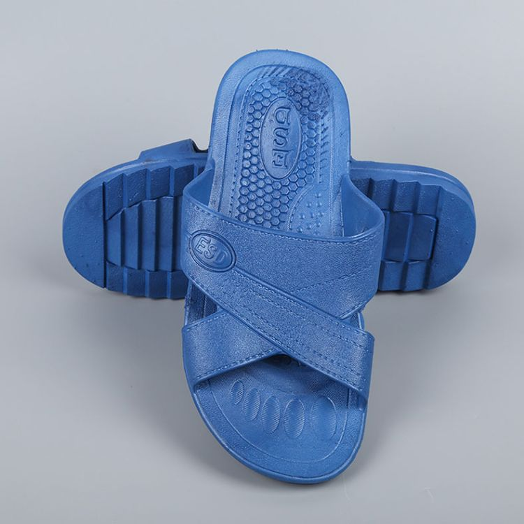 厂家热销spu无尘防静电拖鞋工作鞋 男士劳保防静电凉鞋批发