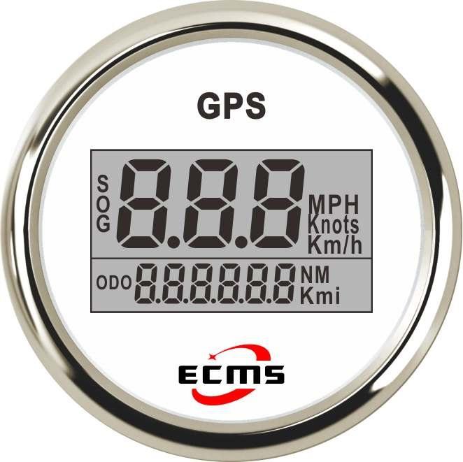 游艇船舶房车汽车改装车数显表GPS速度表 0-999 52毫米