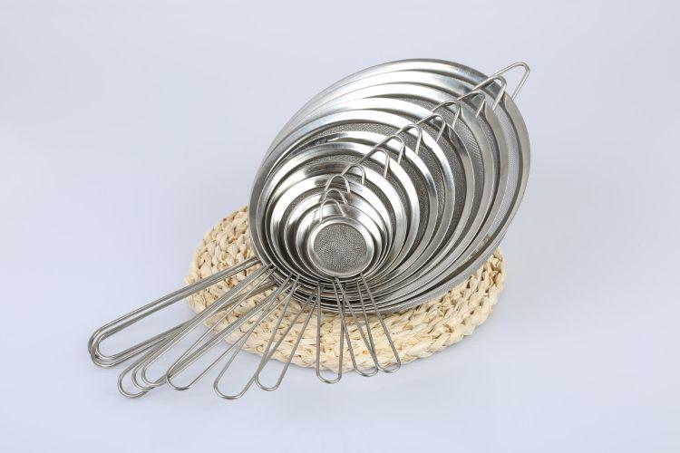 批发多尺寸宽边油格厨房油捞豆浆燕窝过滤漏勺不锈钢漏网面粉筛