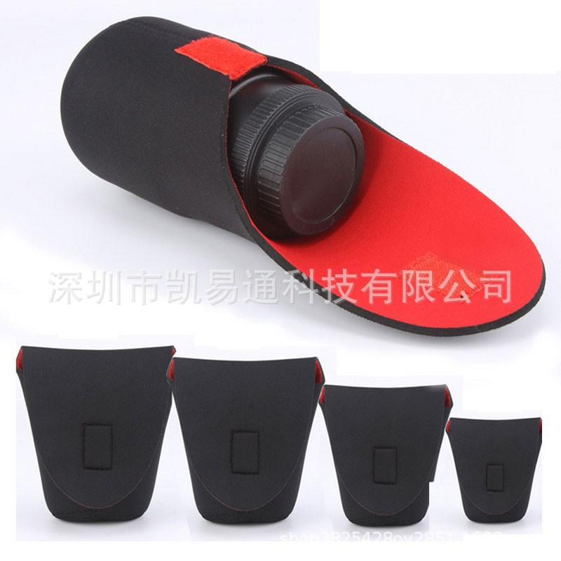 单反相机镜头袋镜头筒加厚潜水料防水镜头包红黑镜头套抗震防撞
