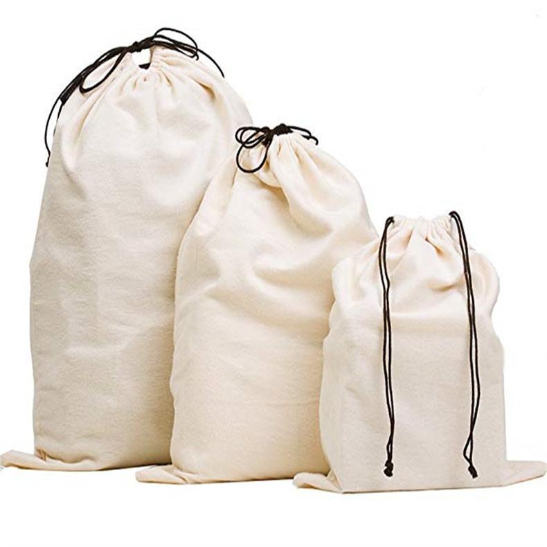厂家定制棉布束口袋背包帆布束口袋广告纯棉布袋酒袋加工定做logo
