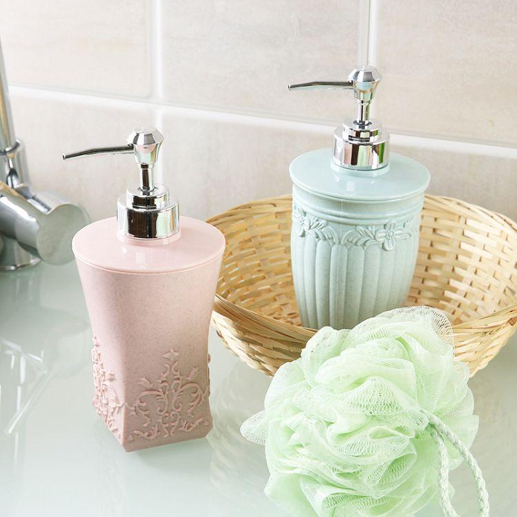 欧式雕花沐浴露分装瓶 家用大容量按压空瓶洗手液瓶子洗发水空瓶