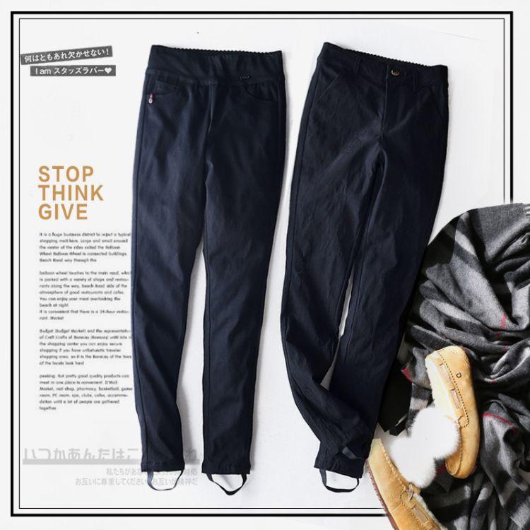 羽绒裤女外穿加厚修身显瘦高腰白鸭绒弹力保暖打底裤小脚羽绒裤
