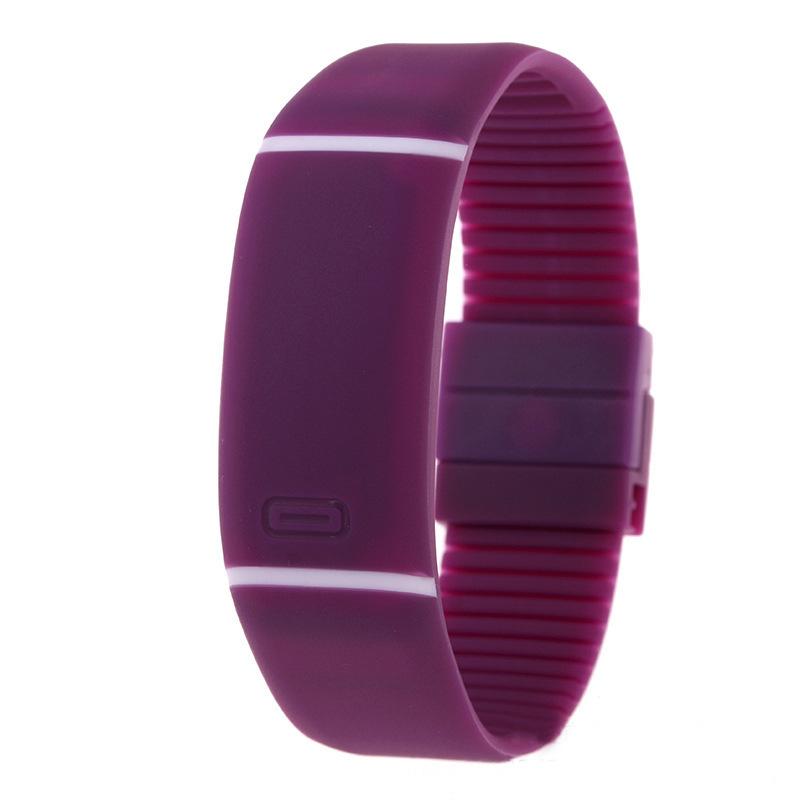 LED电子手表触膜横条手儿童糖果色表果冻led表 礼品手环厂家直销