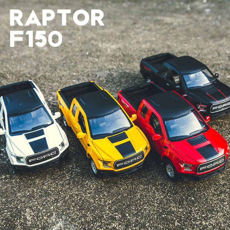 [盒装]福特猛禽F150合金车模建元儿童回力玩具车仿真模型汽车摆件