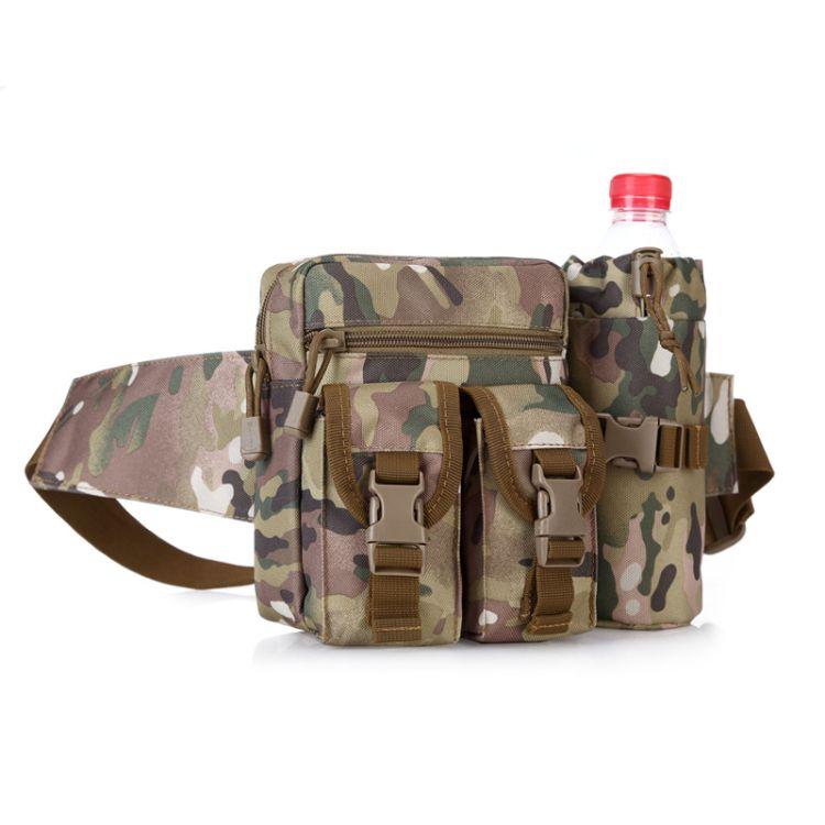 军迷运动战术腰包男女休闲带水壶腰包骑行旅行登山小腰包