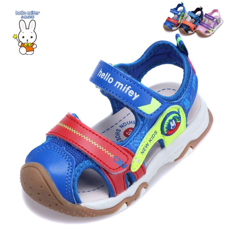 2018小兔米菲6112夏款新品凉鞋男女包头沙滩凉鞋儿童健康机能涼鞋