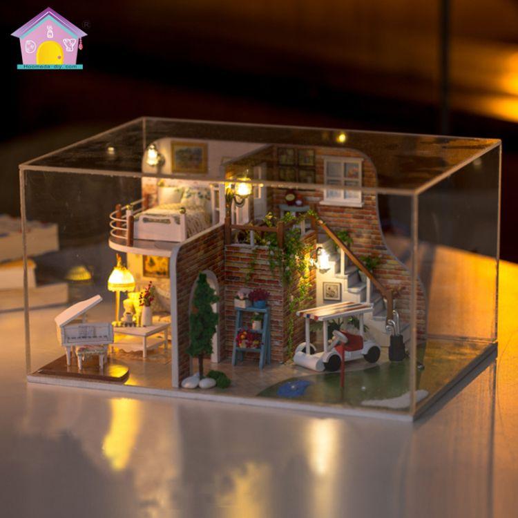 弘达diy小屋手工房 创意礼品生日礼物模型玩具 挥杆之旅送防尘罩