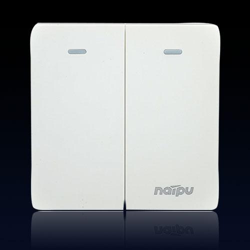耐普N78系列无边框大板二开多控双开多控开关 两位多控 包邮